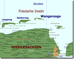Karte von Wangerooge